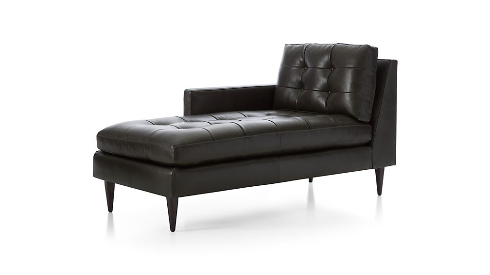 Petrie Leather Left Arm Chaise Lounge