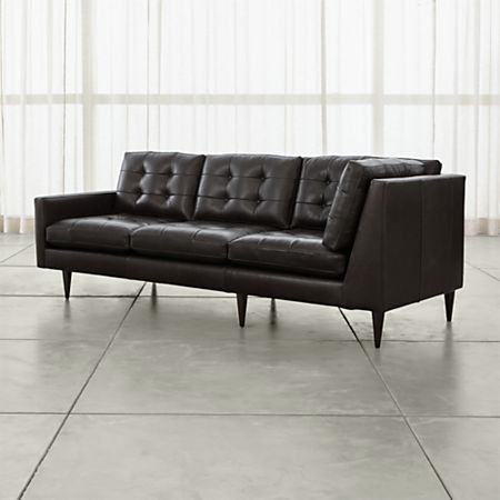 Admirable Petrie Black Corner Sofa Crate And Barrel Caraccident5 Cool Chair Designs And Ideas Caraccident5Info