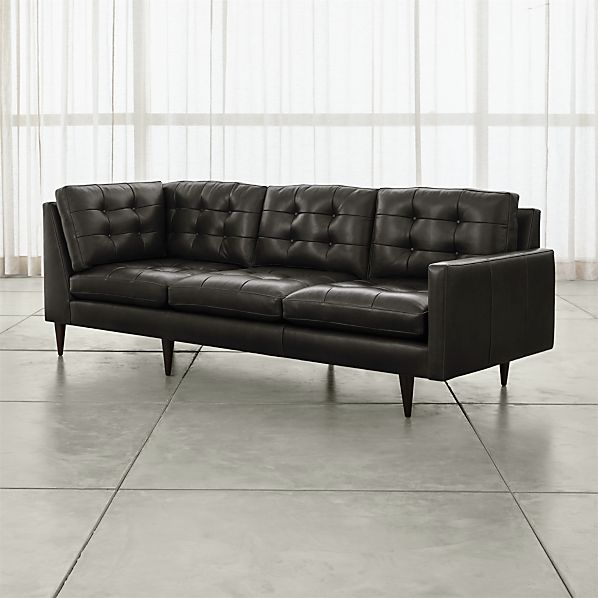 Enjoyable Petrie Leather Corner Sofa Crate And Barrel Ibusinesslaw Wood Chair Design Ideas Ibusinesslaworg