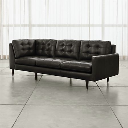 Petrie Leather Corner Sofa | Crate and Barrel