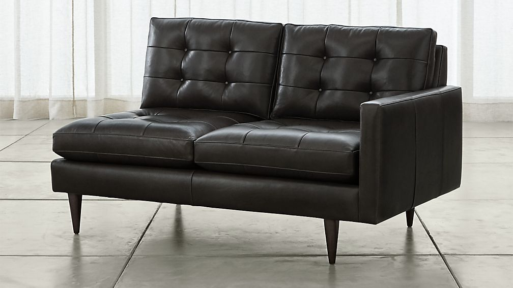 Petrie Leather Right Arm Loveseat