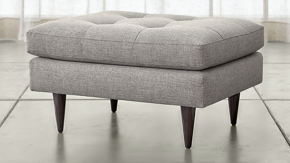 petrie ottoman crate and barrel. Black Bedroom Furniture Sets. Home Design Ideas