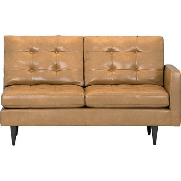 Petrie Leather Sectional Right Arm Loveseat