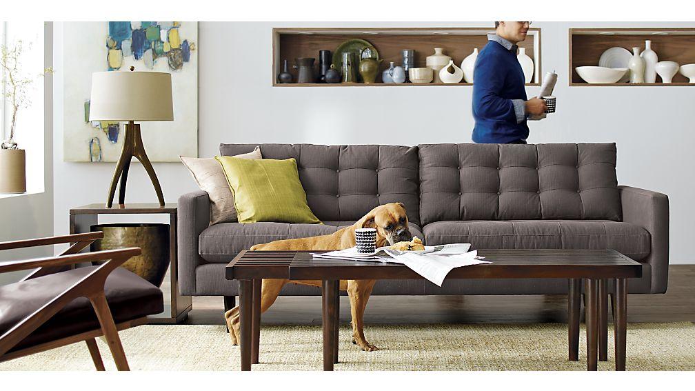 Crate Barrel Petrie Sofa Radkahair Org Home Design Ideas