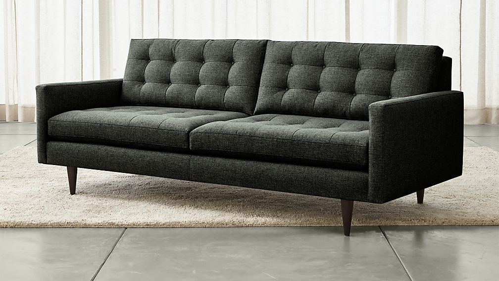 Charcoal Sofa W Accent Pillows Sam Levitz