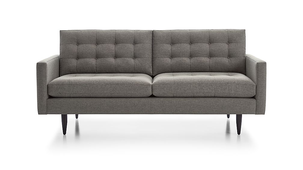 Petrie sofa 28 images crate and barrel petrie leather for 2 arm pressback chaise