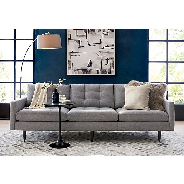 Dexter Arc Floor Lamp With Grey Shade Crate And Barrel