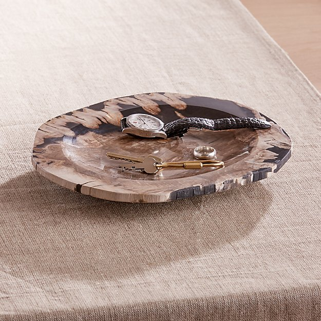 Petrified Wood Catch-All Tray - Image 1 of 4