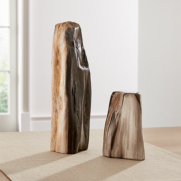 Petrified Wood Sculptures - Image 1 of 6