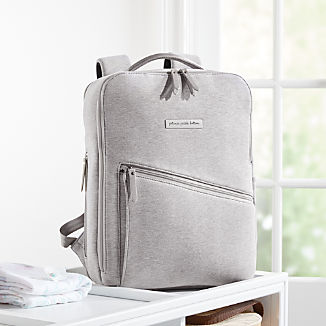 Petunia Pickle Bottom Grey Work Play Backpack