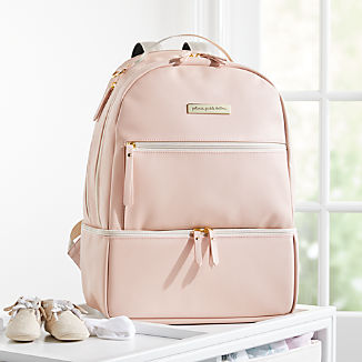 Petunia Pickle Bottom Light Pink Faux Leather Axis Backpack