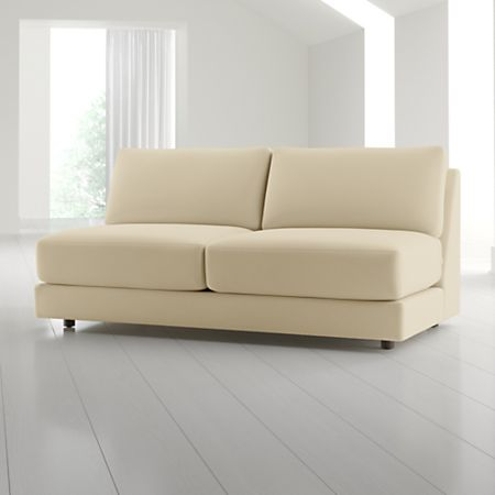 Peyton Armless Sofa Reviews Crate
