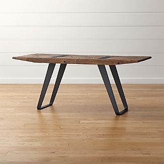 Rustic Wood Table Crate And Barrel