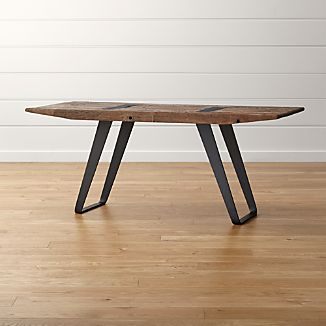 Reclaimed Wood Tables Crate And Barrel - Reclaimed wood work table