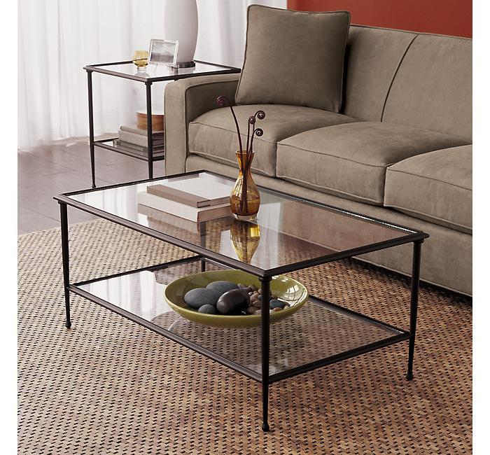 where coffee table glass top metal frame