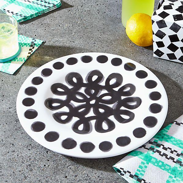 Pic-nic Melamine Dot Rim Dinner Plate