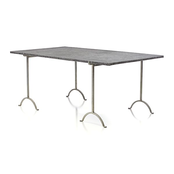 """Pic-nic 71"""" Rectangular Faux Cement Top Table"""
