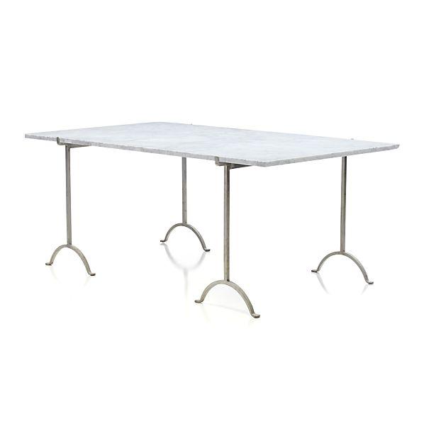 "Pic-nic 71"" Rectangular Marble Top Table"