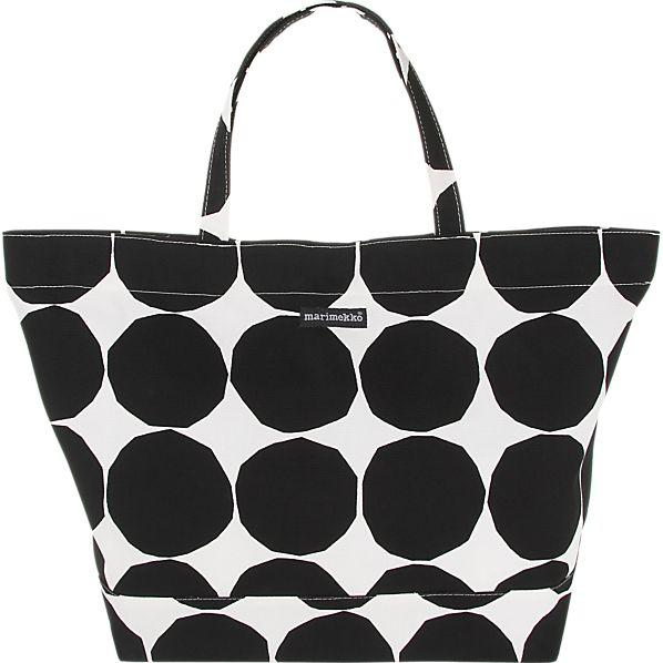 Marimekko Pienet Kivet Opaali Black and White Bag