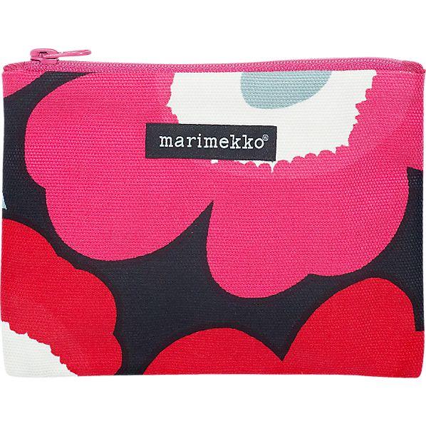 Marimekko Unikko Pieni Keiju Red and Black Bag