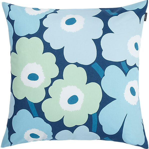 "Marimekko Unikko Pieni Turquoise 20"" Pillow"
