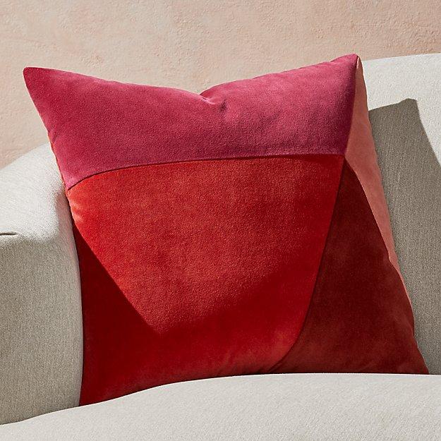 "Pieced Warm Velvet Pillow 20"" - Image 1 of 5"