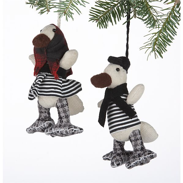Set of 2 Pierre and Marguerite Goose Ornaments