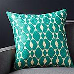 Piet Teal 20  Pillow with Down-Alternative Insert