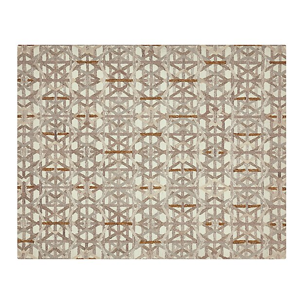 Pietro dune beige geometric rug 8x10 in area rugs for Geometric print area rugs