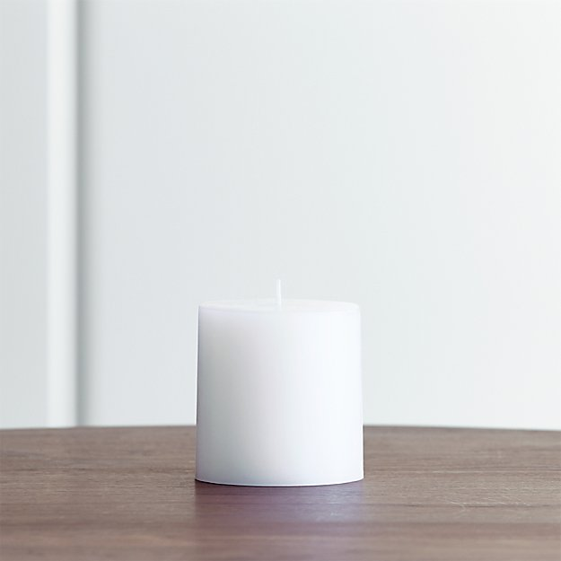"White 3""x3"" Pillar Candle"