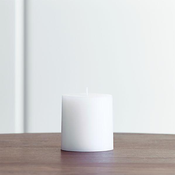"White 3""x3"" Pillar Candle"