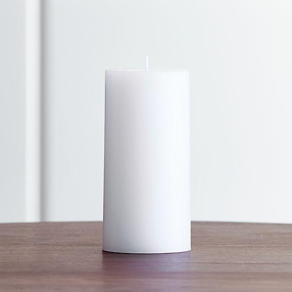 "White 3""x6"" Pillar Candle"