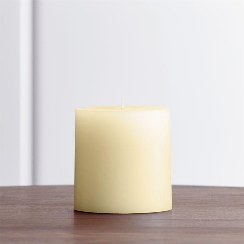 Stock up on the classic ivory pillar candle, in a variety of sizes.<br /><br /><NEWTAG/><ul><li>Paraffin wax</li><li>Cotton wick</li><li>Unscented</li><li>Burn time: 75 hours</li><li>Made in India</li></ul>