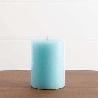 """Aqua 3""""x4"""" Pillar Candle"""
