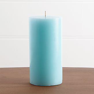 """Aqua 3""""x6"""" Pillar Candle"""