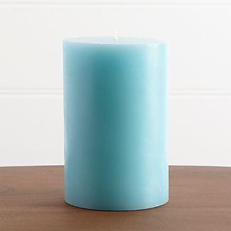 """Aqua 4""""x6"""" Pillar Candle"""