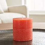 Orange Scented Pillar Candle 3x3