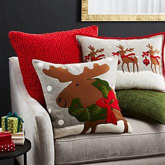 Holiday Moose Pillow Arrangement