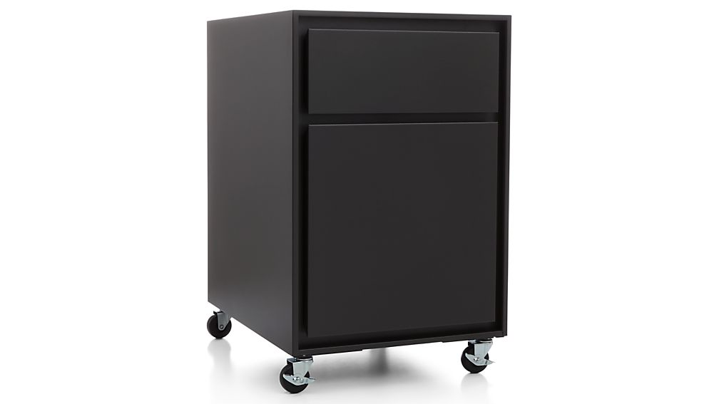 Pilsen Graphite Two Drawer File Cabinet Crate And Barrel