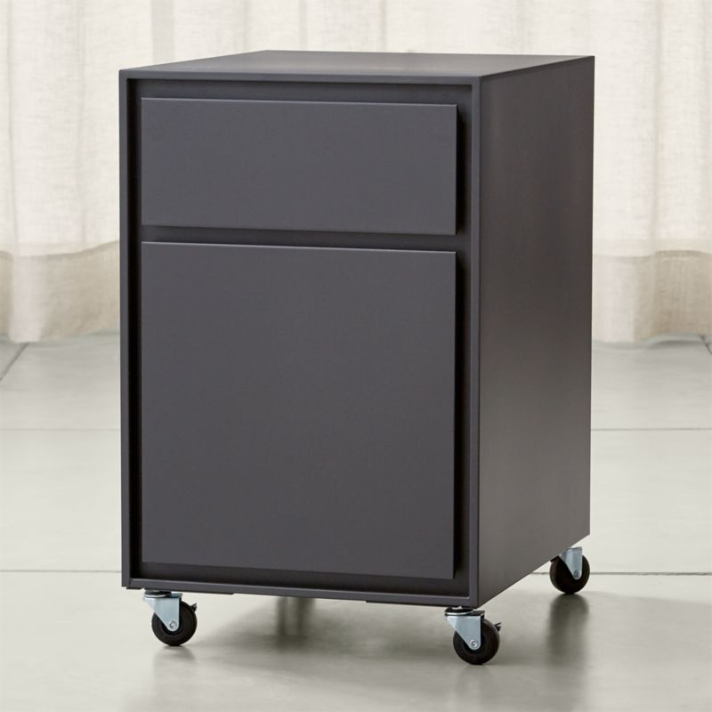 pilsen graphite two drawer file cabinet | crate and barrel