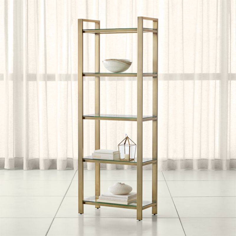 Pilsen Brass Bookcase Reviews Crate And Barrel