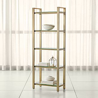 bookcases wood metal and glass crate and barrel rh crateandbarrel com glass and brass bookshelves bookshelves with glass doors for sale