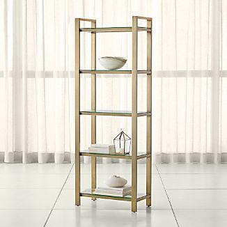 Pilsen Brass Bookcase
