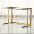 Pilsen Graphite Glass Desk Crate And Barrel