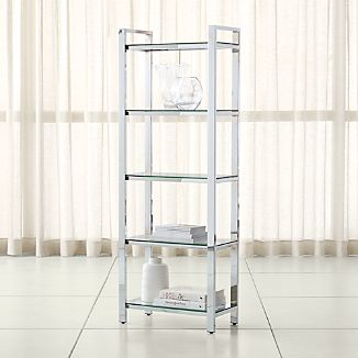 Pilsen Chrome Bookcase