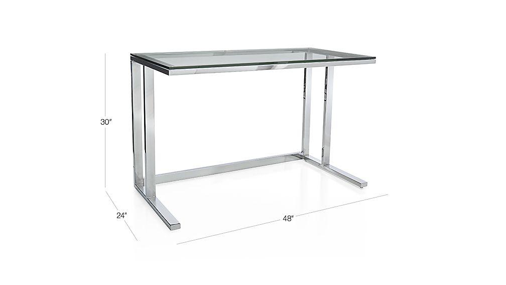 Pilsen Chrome Desk Crate And Barrel
