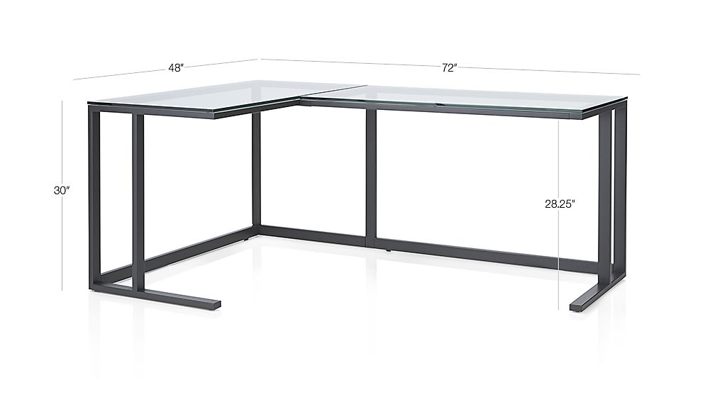 Pilsen Graphite Glass Corner Desk Crate And Barrel