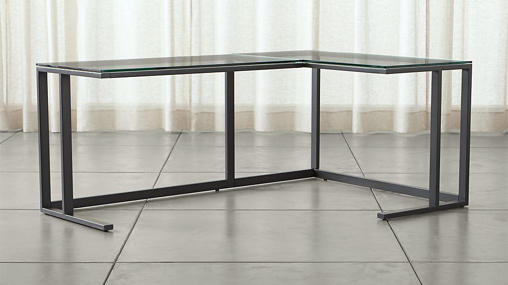 Pilsen Graphite Corner Desk ...