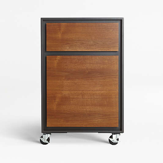 Pilsen File Graphite with Walnut Drawers
