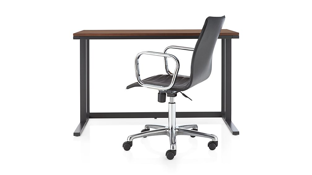 Pilsen Graphite Desk with Walnut Top